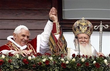 Patriarch Bartholomew and the Pope